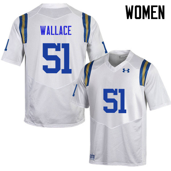 Women #51 Aaron Wallace UCLA Bruins Under Armour College Football Jerseys Sale-White