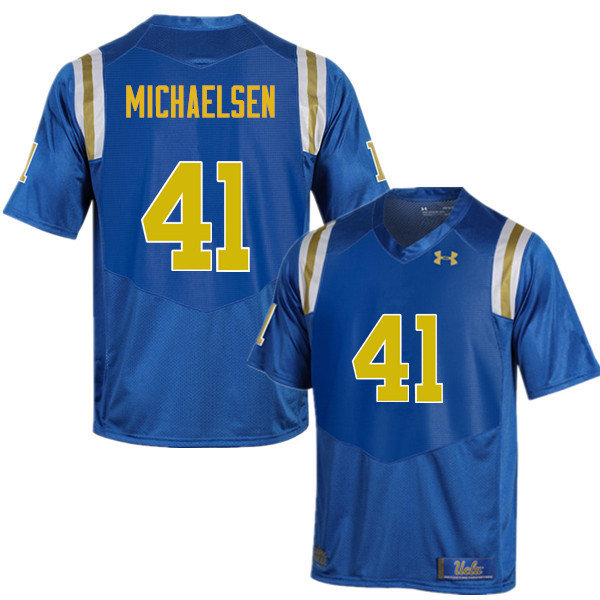 Men #41 Alex Michaelsen UCLA Bruins Under Armour College Football Jerseys Sale-Blue