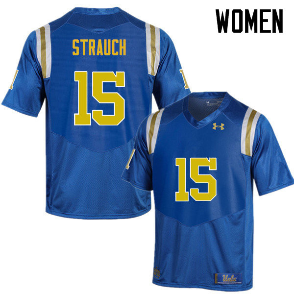Women #15 Andrew Strauch UCLA Bruins Under Armour College Football Jerseys Sale-Blue