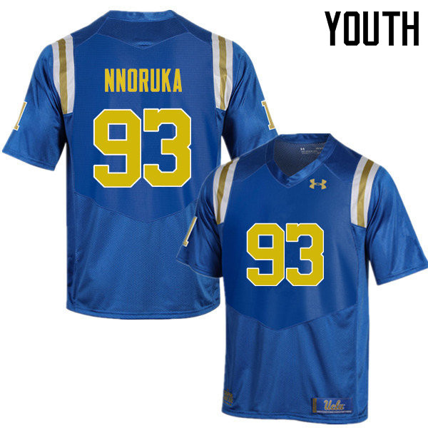 Youth #93 Chigozie Nnoruka UCLA Bruins Under Armour College Football Jerseys Sale-Blue