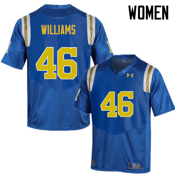 Women #46 Donovan Williams UCLA Bruins Under Armour College Football Jerseys Sale-Blue