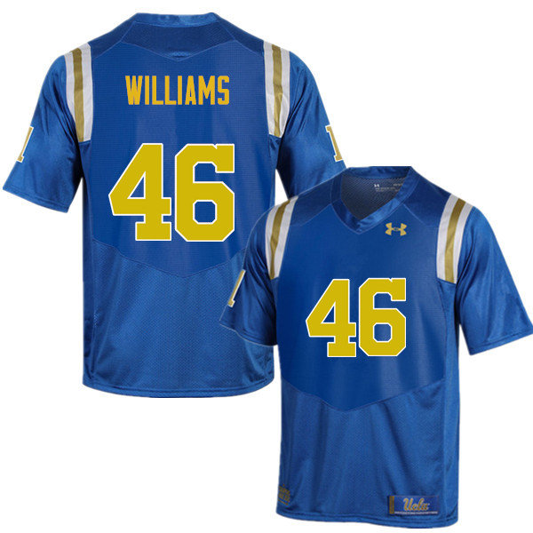 Men #46 Donovan Williams UCLA Bruins Under Armour College Football Jerseys Sale-Blue