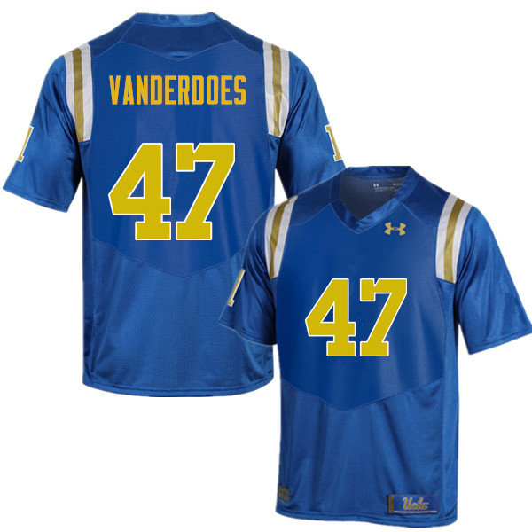 Men #47 Eddie Vanderdoes UCLA Bruins Under Armour College Football Jerseys Sale-Blue