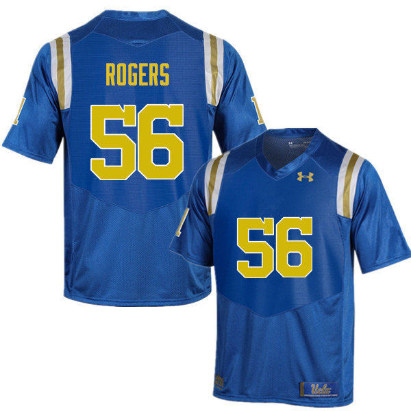 Men #56 Greg Rogers UCLA Bruins Under Armour College Football Jerseys Sale-Blue