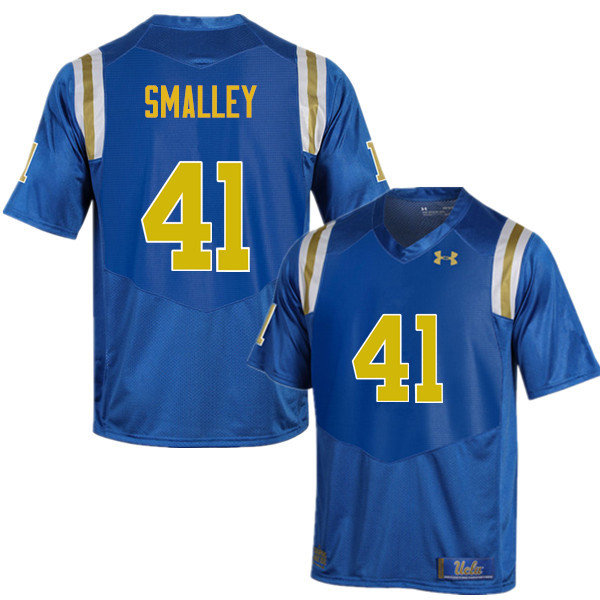 Men #41 Jayce Smalley UCLA Bruins Under Armour College Football Jerseys Sale-Blue