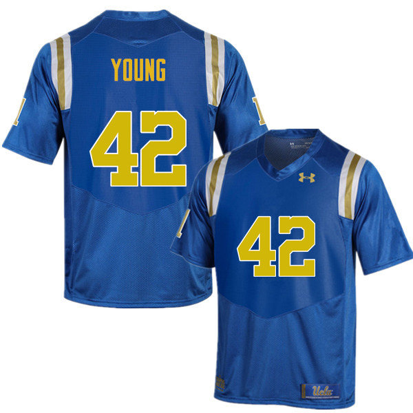 Men #42 Kenny Young UCLA Bruins Under Armour College Football Jerseys Sale-Blue