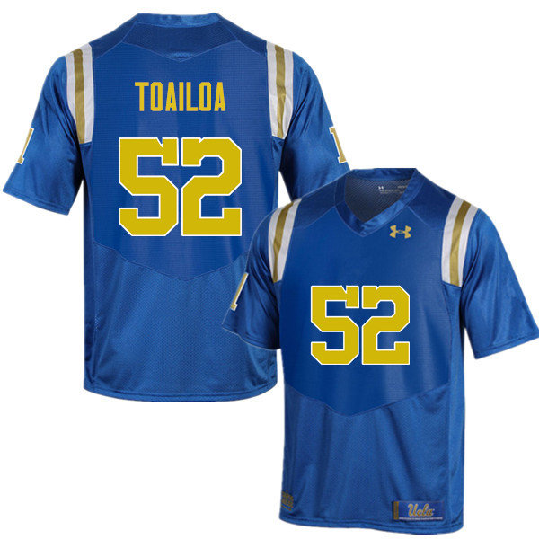 Men #52 Lokeni Toailoa UCLA Bruins Under Armour College Football Jerseys Sale-Blue