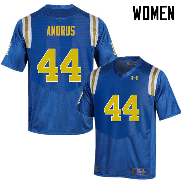 Women #44 Martin Andrus UCLA Bruins Under Armour College Football Jerseys Sale-Blue