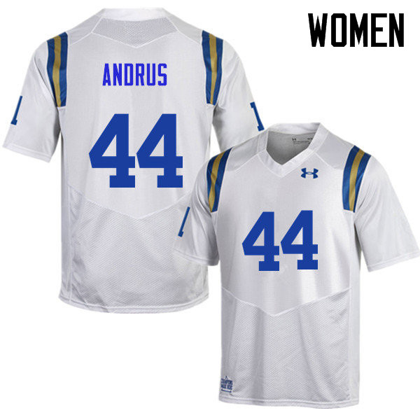 Women #44 Martin Andrus UCLA Bruins Under Armour College Football Jerseys Sale-White