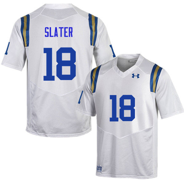 Men #18 Matthew Slater UCLA Bruins Under Armour College Football Jerseys Sale-White