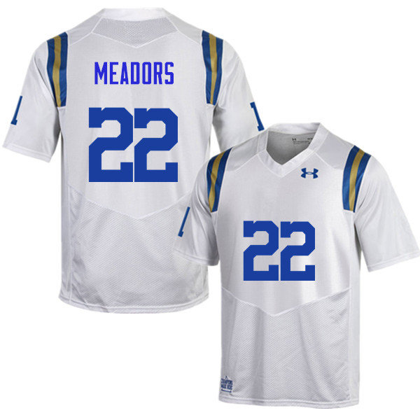 Men #22 Nate Meadors UCLA Bruins Under Armour College Football Jerseys Sale-White